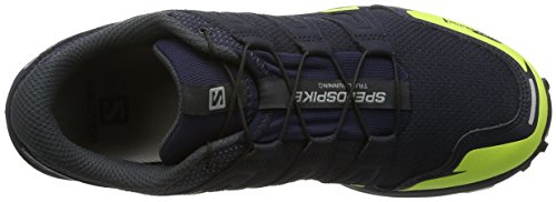Salomon Speedspike Cs, Chaussures dEscalade Homme Multicolore (Navy Blazer/si/lime Punch)