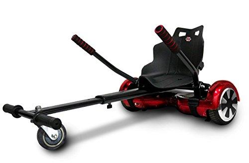 Xskate 6, Kart Compatibile con Balance Scooter da 6.5-8.5-10' Unisex – Adulto, Nero, Taglia Unica