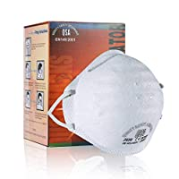 BlackUdragon Professional Grade Mask Dust-proof And Anti-fog Headband FFP2 Mask Dust Mask Anti PM2.5 Anti Influenza Breathing Face Mask Safety Masks (1, FFP2)