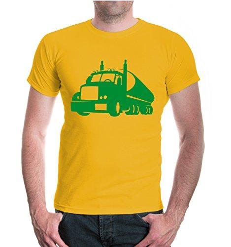 buXsbaum® T-Shirt Truck-Silhouette V1 Sunflower-Green