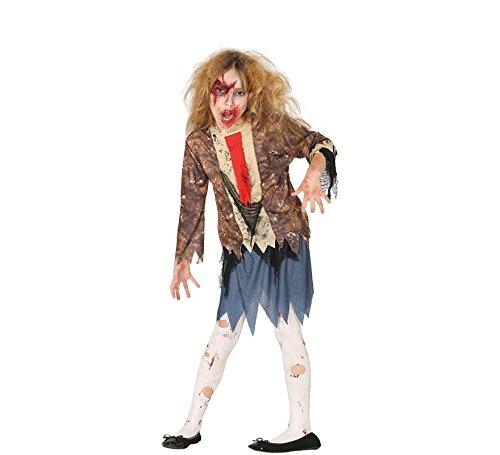 Guirca Zombie Studentin Schülerin Schulmädchen Halloween Kostüm für Kinder