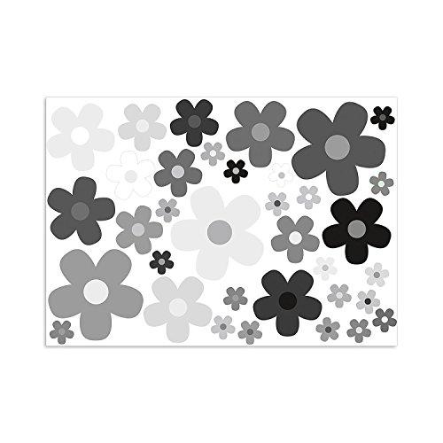 easydruck24de Aufkleber Set Blumen Bl