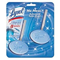 Lysol No Mess Automatic Toilet Bowl Cleaner, Ocean Fresh Scent, 2 Count