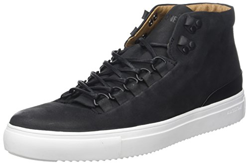 Blackstone Om55.Blkw, Zapatillas Altas para Hombre, Noir (Black/White Sole), 44 EU