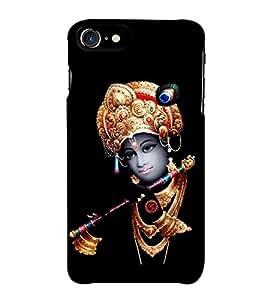 Fiobs Designer Back Case Cover for Apple iPhone 7 Plus (Hindu Devotional Little Krishna With Flute)