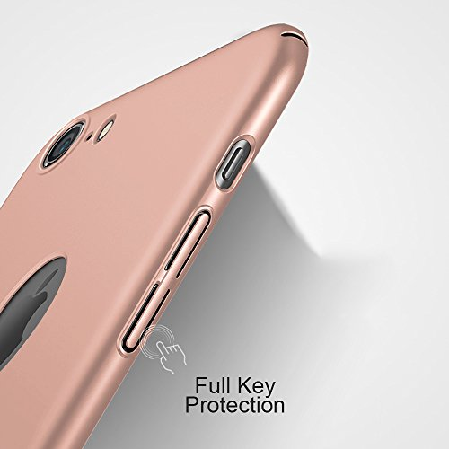 iPhone 6 case, IPHOX iPhone 6s Case Silicone Shockproof Luxury 3in1 Hybrid Impact Anti-Slip Hard Protective Cover for Apple iPhone 6 6s 4.7 Inch (Rose Gold) Rose Gold-Matte