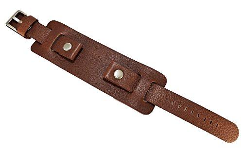 Schwere Leder braun Military Uhrenarmband, 20mm