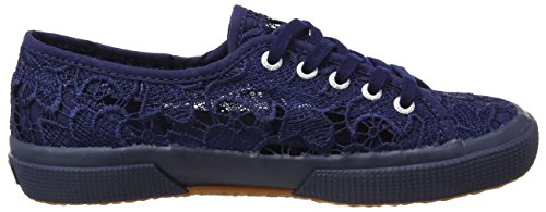Superga 2750 Macramej, Baskets Basses Mixte Enfant Blue (blue Navy)