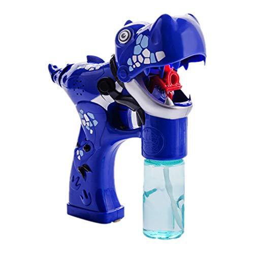 MA87 Seifenblasenmaschine Kinder Dinosaurier-Blasen-Schwimmen-Spielzeug mit LED-Blinklichtern und Musik-Spielzeug (Blau)