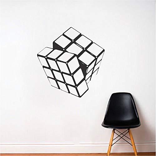 mmwin Cube Vinyl Wandtattoo Wohnzimmer Wohnkultur Entfernbare Wandaufkleber Kinder Schlafzimmer Kunst Aufkleber Tapete Heißer 56 * 56 cm