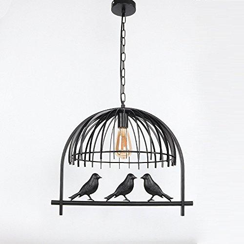 Ehime Retro Vogelkäfig Restaurant Kronleuchter kreative Persönlichkeit Eisen Café Bekleidungsgeschäft Beleuchtung einfachen Vogel Kronleuchter Lampe Körpergröße 30 * 30cm