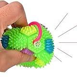 LIOOBO 4 stücke Squeaker Ball Hundespielzeug Leuchtende Elastische Spiky Ball Squeezy Bouncy Toy Balls für Männer Frauen Erwachsene Teens und Haustiere