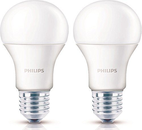 Philips Base E27 14-Watt LED Bulb (Pack of 2, Golden Yellow)