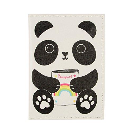Aiko Panda Kawaii Friends Passport Holder Travel Holiday Cover Documents ID Card - Cover Passport Panda