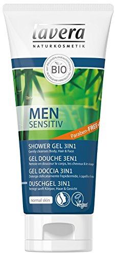 Lavera Duschgel 3in 1Men Sensitive Guarana Bio und Bambus Bio Vegan Kosmetik natürlichen Pflanzenwirkstoffen Bio 100{5e8a40e4f64359b1adc1c8c36d6518dcb96cbb2c645fcc3b4dab7ef94a1a6898} Natur (200ml)