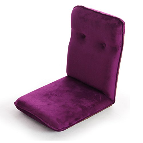 Nichtstuer Faules Sofa Einfach Und Modern Einzelner Stuhl Klappstuhl Sofa Stuhl Einstellbar Boden Stuhl Lounge-Sessel Liegestühle - Lila/Rose Rot/Schwarz 106 * 45 cm (Farbe : Purple) - Rote Moderne Lounge-stühle