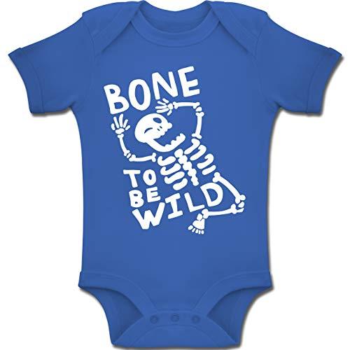 Anlässe Baby - Bone to me Wild Halloween Kostüm - 1-3 Monate - Royalblau - BZ10 - Baby Body Kurzarm Jungen Mädchen
