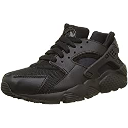 Nike Huarache Run Gs, Scarpe da Corsa Bambino, Nero (Black/Black Black), 375 EU