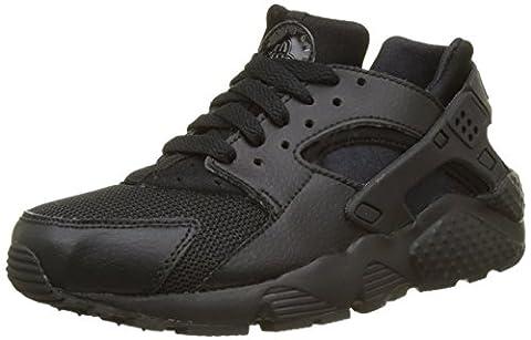 Nike Huarache Run (GS), Chaussures de Running Mixte Enfant, Noir (Black/Black-Black), 36.5 EU