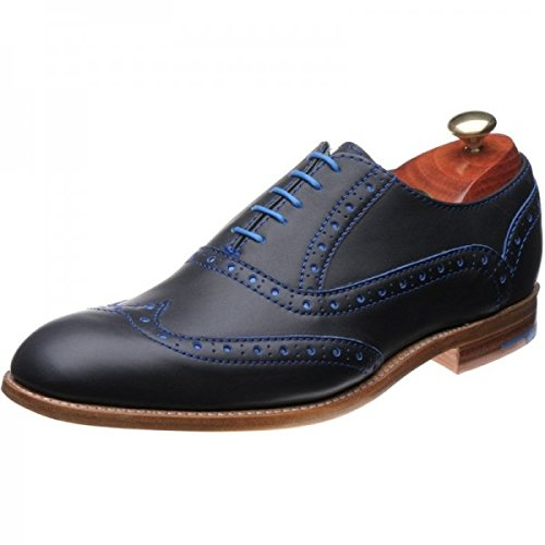Barker Mens Grant Navy Blue Leather Shoes 11 UK