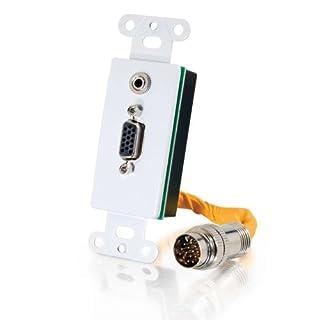 C2G 60054–Kabel Interface/Gender Adapter (Rapidrun 15-Pin, VGA, 3,5mm, Stecker/Buchse, weiß, orange)