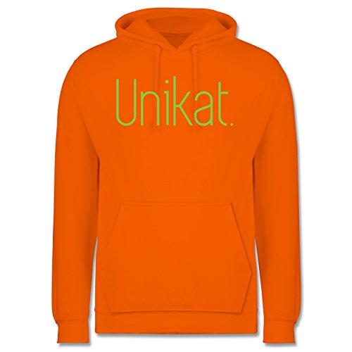 Statement Shirts - Unikat - Männer Premium Kapuzenpullover / Hoodie Orange