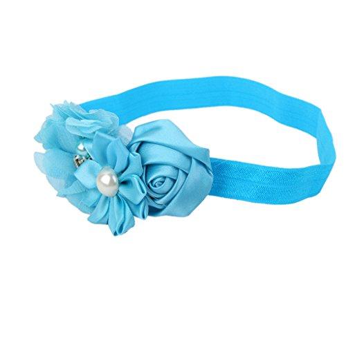 Sharplace Baby Kinder Stirnband Blumen Blüten Haarband Fotoshooting Requisiten in Vielen Farben - Blau