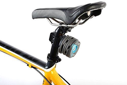 Hysenm Antivol Pliable Hamburger Compact Léger Flexible Anti-crochetage Robuste Résistant Pour VTT Vélo Route Vélo Pliant Fixie VTC rouge/bleu/noir/noir&blanc
