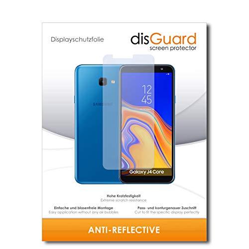 disGuard® Bildschirmschutzfolie [Anti-Reflex] kompatibel mit Samsung Galaxy J4 Core [3 Stück] Entspiegelnd, Matt, Antireflektierend, Extrem Kratzfest, Anti-Fingerabdruck - Panzerglas Folie, Schutzfolie