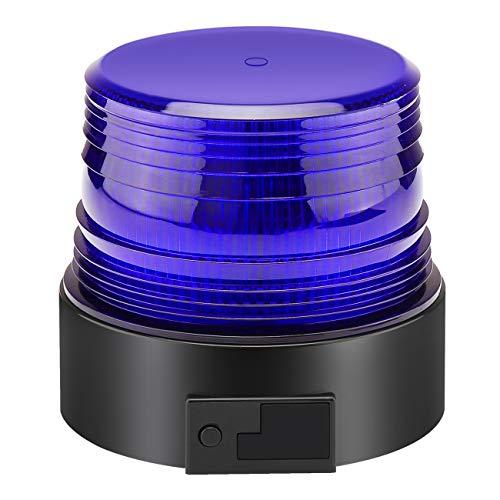 Appow LED Rundumkennleuchte 12V/24V Rundumleuchte für Auto Anhänger Wohnwagen SUV - Gelb - Magnetfuß - 3,5m Kabel (Kabelloses Blau)