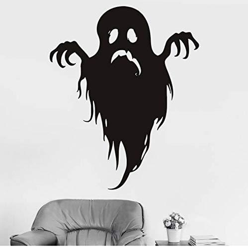 DongOJO Happy Halloween Wandaufkleber Kreativ Geisterpflanzen Geister Baum Wandtattoo Fantasie dekorative Fensteraufkleber 42x52cm (De Fantasien Halloween Filmes)