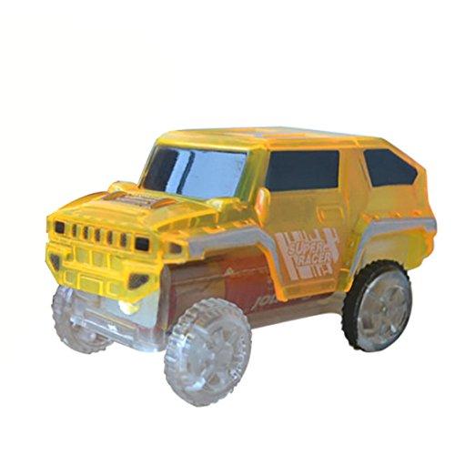 Mamum Electronics - Voiture électrique pour enfants - Voiture spéciale pour jouets Magic Track - Avec lumières clignotantes - Éducatif  Taille unique jaune
