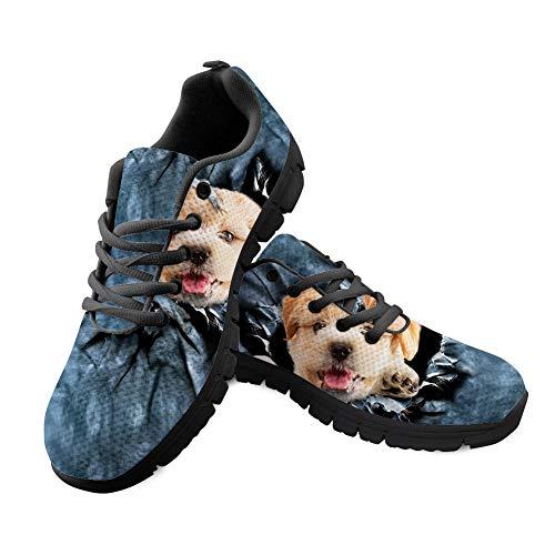 Chaussures de Course légères et Respirantes pour Homme Motif Chien - - Chien, 41 EU