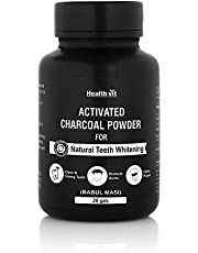 HealthVit Activated Charcoal Powder for Natural Teeth Whitening - 20 g