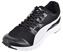 PUMA Mens Black Mesh Running Shoes - 9 UK