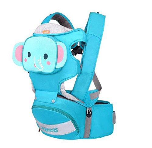 Andux Zone Marsupio Neonato Confortevole Regolabile Cotone Front Facing Comfort Positions blu YEBD-02