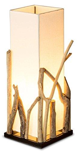 levandeo Lampe Tischlampe/Tischleuchte aus recyceltem Holz - Holzlampe Treibholz 20x20cm 50cm hoch - Jede Lampe EIN Unikat
