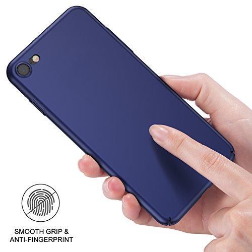 Custodia iPhone 7, RANVOO Ultrasottile Leggera Case Anti-impronta Antigraffio Protettiva Hard Cover Plastica Dura Shell for iPhone 7(4,7 pollici),Blu Scuro Blu Scuro