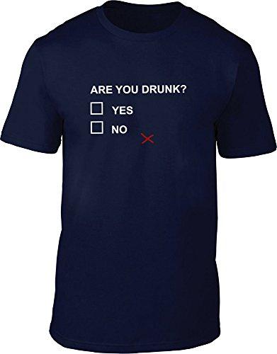 Are You Drunk maglietta da uomo Navy L / 106,68-111,76 cm
