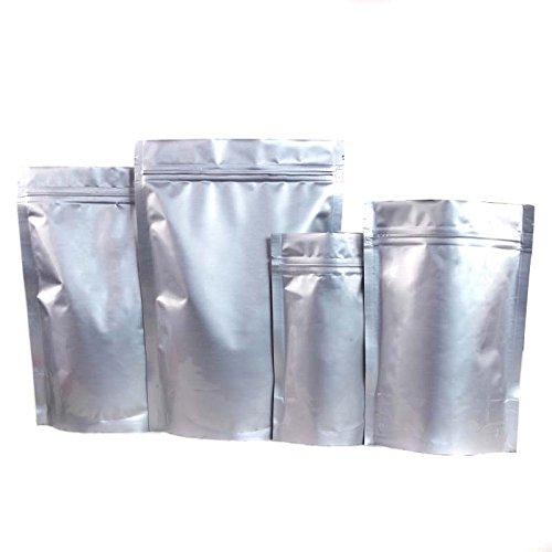 20PCS Aluminium Ziplock Plastic Grip Seal Bag Pouches Emballage alimentaire Sacs à glissière pour noix Feuille de thé à base de haricots et plus (4.3\\