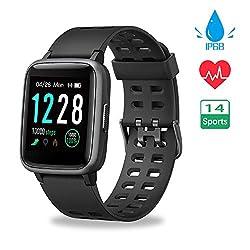【Neueste Modell】 Smartwatch, Fitness Armband Voller Touch Screen IP68 Wasserdicht Smart Watch Fitness Uhr Sportuhr, Damen Herren Schrittzähler Pulsuhren Schlafmonitor Fitness Tracker für Android iOS