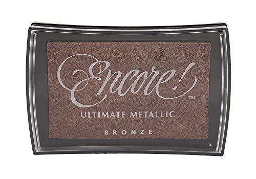 Tsukineko Ultimate Metallic Pigment Stempelkissen Bronze, Synthetic Material, braun, 9.9 x 6.6 x 1.8 cm -