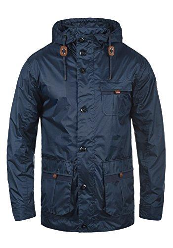 BLEND Finn Herren Übergangsjacke Kapuzenjacke aus hochwertiger Baumwoll-Mischung, Größe:M, Farbe:Navy (70230)