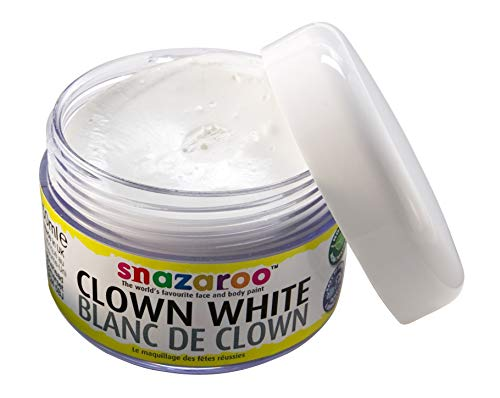 Snazaroo Pintura facial Clown, 50 ml, color blanco