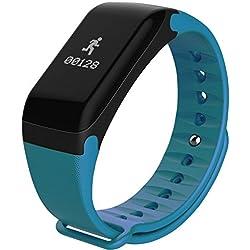 Pulsera inteligente con múltiples e intesantes funciones, tales cómo: Tensiómetro, medidor de ritmo cardíaco, medidor de fatiga, contador de calorías consumidas, etc. Apto para Android e iOS. Pulsera de actividad MOBILE+ MB-SB100.(FITBIT)
