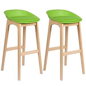 WOLTU® BH46gn-2 2 x Barhocker 2er Set Barstühle gut