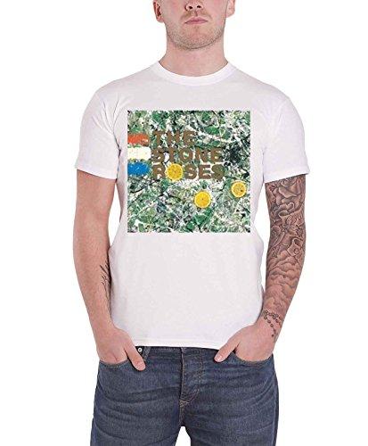 Stone Roses Mens T Shirt White Classic Original Album Cover Logo Official