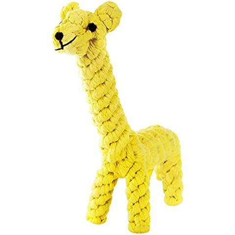 Lifewit Hundespielzeug Knoten Kauenspielzeug Chew Spielzeug Kauenspielzeug aus Baumwolle Giraffe (Giraffe Corda)