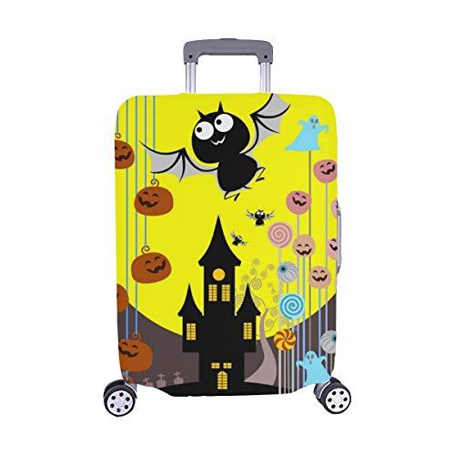 ((Nur abdecken) Halloween Süßigkeitseimer Trick Treat Konzept Staubschutz Trolley Protector case Reisegepäck Beschützer Koffer Cover 28,5 X 20,5 Zoll)