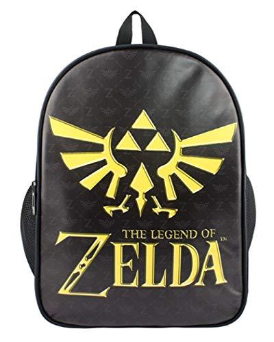 Cosstars The Legend of Zelda Jeu Impression d'image Sac à Dos Sac d'école Cartable Knapsack Backpack pour Étudiant Noir-1